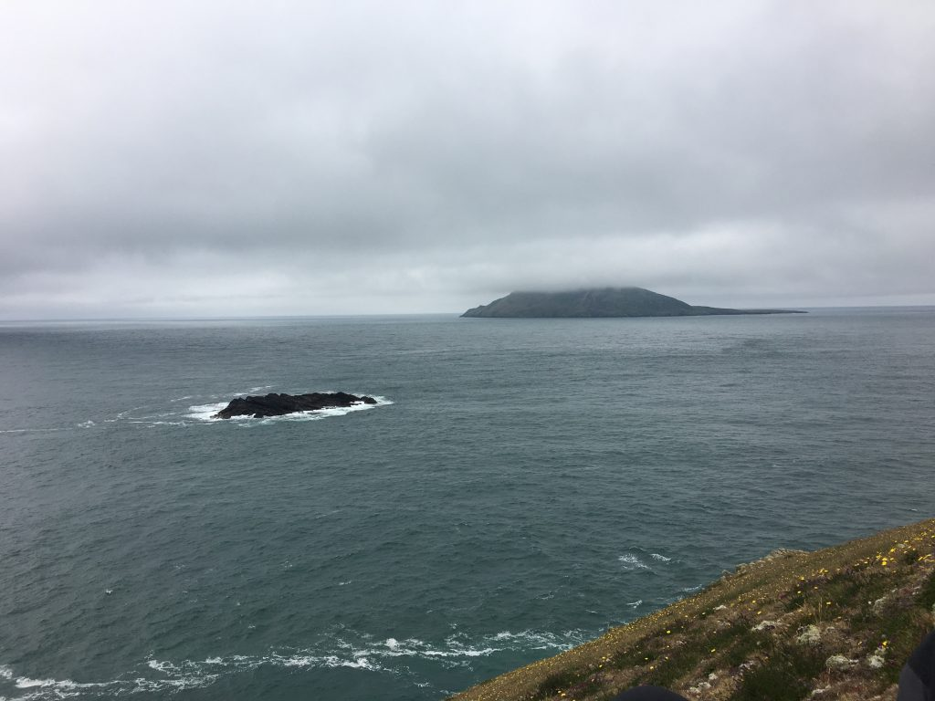 Bardsey Island in the mists