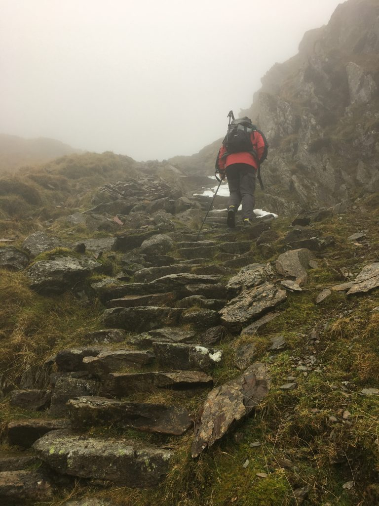 The steps ate the hed of Dove Dale